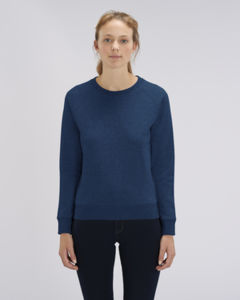 Sweat-shirt col rond iconique femme  | Stella Tripster Black Heather Blue