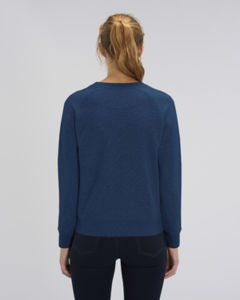 Sweat-shirt col rond iconique femme  | Stella Tripster Black Heather Blue 1