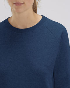 Sweat-shirt col rond iconique femme  | Stella Tripster Black Heather Blue 2