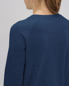 Sweat-shirt col rond iconique femme  | Stella Tripster Black Heather Blue 4
