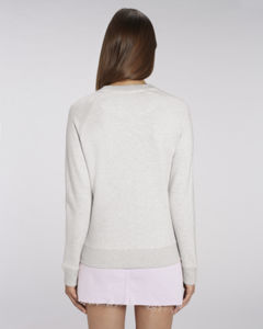 Sweat-shirt col rond iconique femme  | Stella Tripster Cream Heather Grey 1