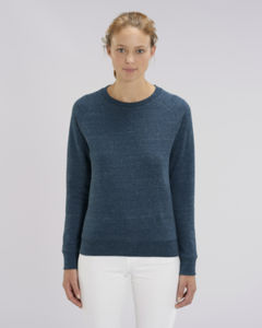 Sweat-shirt col rond iconique femme  | Stella Tripster Dark Heather Denim