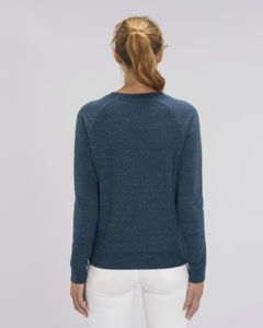 Sweat-shirt col rond iconique femme  | Stella Tripster Dark Heather Denim 1