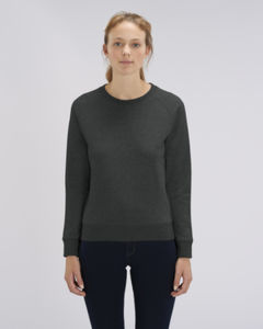 Sweat-shirt col rond iconique femme  | Stella Tripster Dark Heather Grey