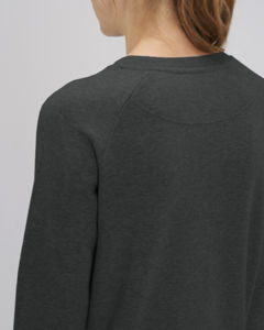 Sweat-shirt col rond iconique femme  | Stella Tripster Dark Heather Grey 4