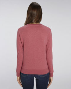 Sweat-shirt col rond iconique femme  | Stella Tripster Heather Cranberry 1
