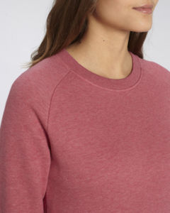 Sweat-shirt col rond iconique femme  | Stella Tripster Heather Cranberry 2