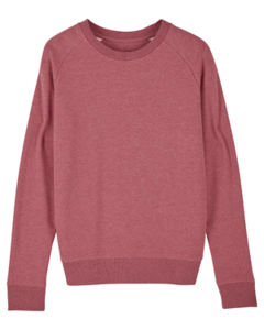 Sweat-shirt col rond iconique femme  | Stella Tripster Heather Cranberry 4