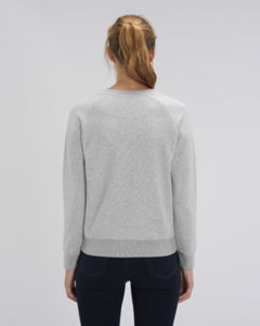 Sweat-shirt col rond iconique femme  | Stella Tripster Heather Grey 1
