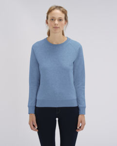 Sweat-shirt col rond iconique femme  | Stella Tripster Mid Heather Blue