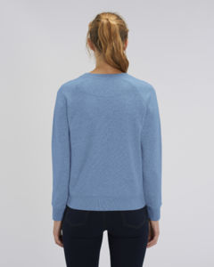 Sweat-shirt col rond iconique femme  | Stella Tripster Mid Heather Blue 1