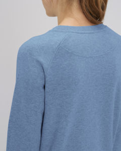 Sweat-shirt col rond iconique femme  | Stella Tripster Mid Heather Blue 4