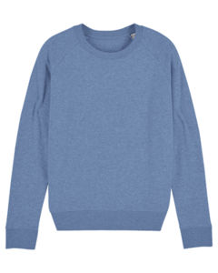 Sweat-shirt col rond iconique femme  | Stella Tripster Mid Heather Blue 6