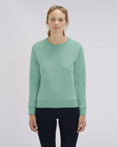 Sweat-shirt col rond iconique femme  | Stella Tripster Mid Heather Green