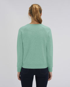 Sweat-shirt col rond iconique femme  | Stella Tripster Mid Heather Green 1
