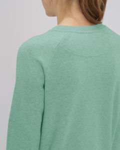 Sweat-shirt col rond iconique femme  | Stella Tripster Mid Heather Green 4
