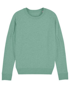 Sweat-shirt col rond iconique femme  | Stella Tripster Mid Heather Green 6