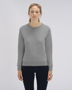 Sweat-shirt col rond iconique femme  | Stella Tripster Mid Heather Grey
