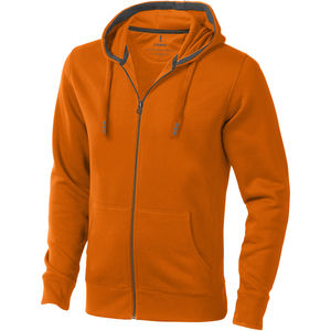 Sweater personnalisé capuche full zip Arora Orange