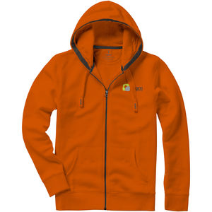 Sweater personnalisé capuche full zip Arora Orange 1