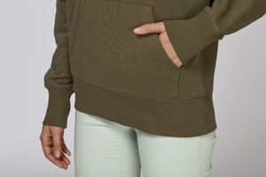 Sweat-shirt capuche oversize unisexe | Reach British Khaki 5