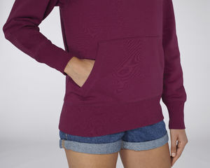 Sweat-shirt capuche oversize unisexe | Reach Purple Led 4