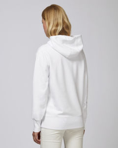 Sweat-shirt capuche oversize unisexe | Reach White 2