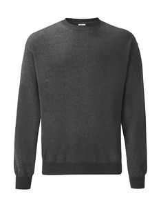 Sweatshirt personnalisé manches longues | Classic Set In Sweat Dark Heather Grey 1