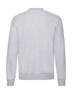 Sweatshirt personnalisé manches longues | Classic Set In Sweat Heather Grey