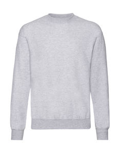 Sweatshirt personnalisé manches longues | Classic Set In Sweat Heather Grey 1