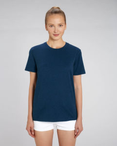 T-shirt iconique unisexe | Creator Black Heather Blue 1