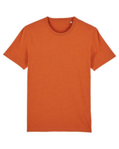 T-shirt iconique unisexe | Creator Black Heather Orange 6