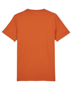 T-shirt iconique unisexe | Creator Black Heather Orange 7