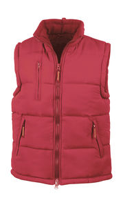 Bodywarmer publicitaire unisexe sans manches avec capuche | Windproof Bodywarmer Red