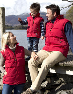 Bodywarmer publicitaire unisexe sans manches avec capuche | Windproof Bodywarmer Red 1