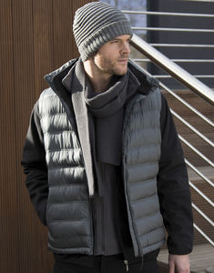 Bodywarmer publicitaire homme sans manches | Ice Bird Padded Grey 9